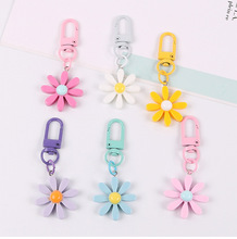 New Creative Sunflower Flower Accessories Simple Daisy Flower Key Chain Pendant Mobile Phone Key Ring Pendant 2020 new key chain duck key chain mickey daisy key ring pendant student schoolbag pendant the best gift