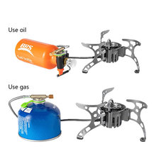 BRS Multi Fuel Outdoor Stove Cooker Portable Kerosene Stove Burners Outdoor Camping Picnic Cooking Foldable Gas Stove BRS-8