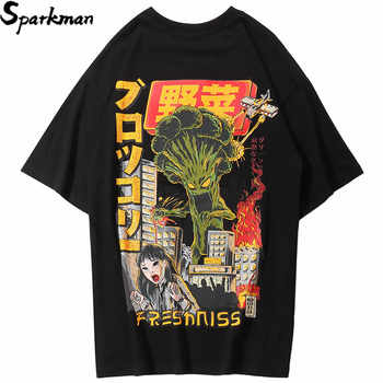 2019 Men Hip Hop T Shirt Harajuku Japanese Cartoon Monster T-Shirt Streetwear Summer Tops Tees Cotton HipHop Tshirt Oversized - DISCOUNT ITEM  46% OFF All Category