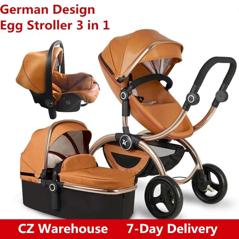 Kuddy Baby Kinderwagen Hoch Landschaft Kinderwagen 3 in 1 Kinderwagen Mit Auto Sitz Kinderwagen Sitzen Liege Klapp Licht kid Trolly