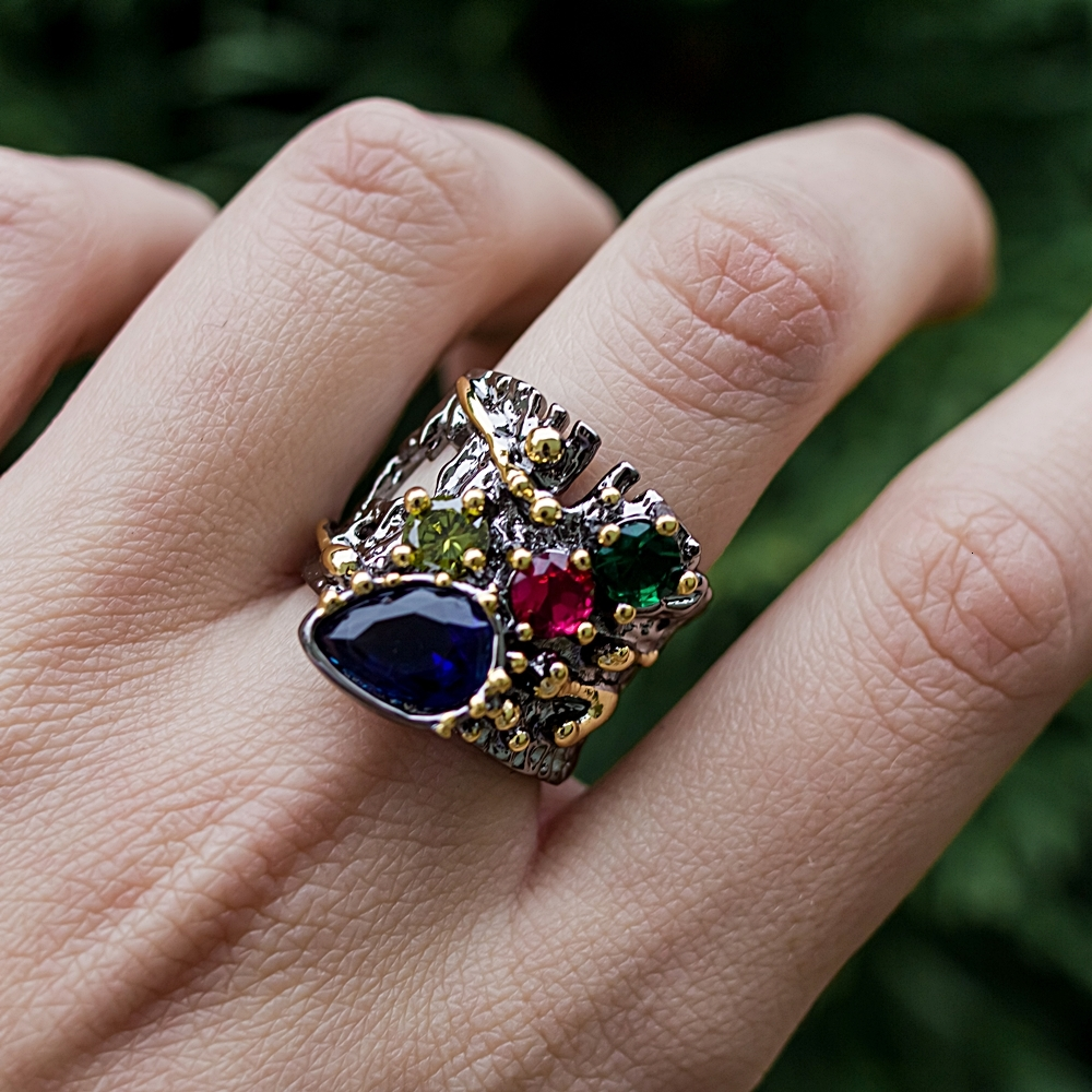 o casamento feminino noivado jóias design grosso anéis wa11757
