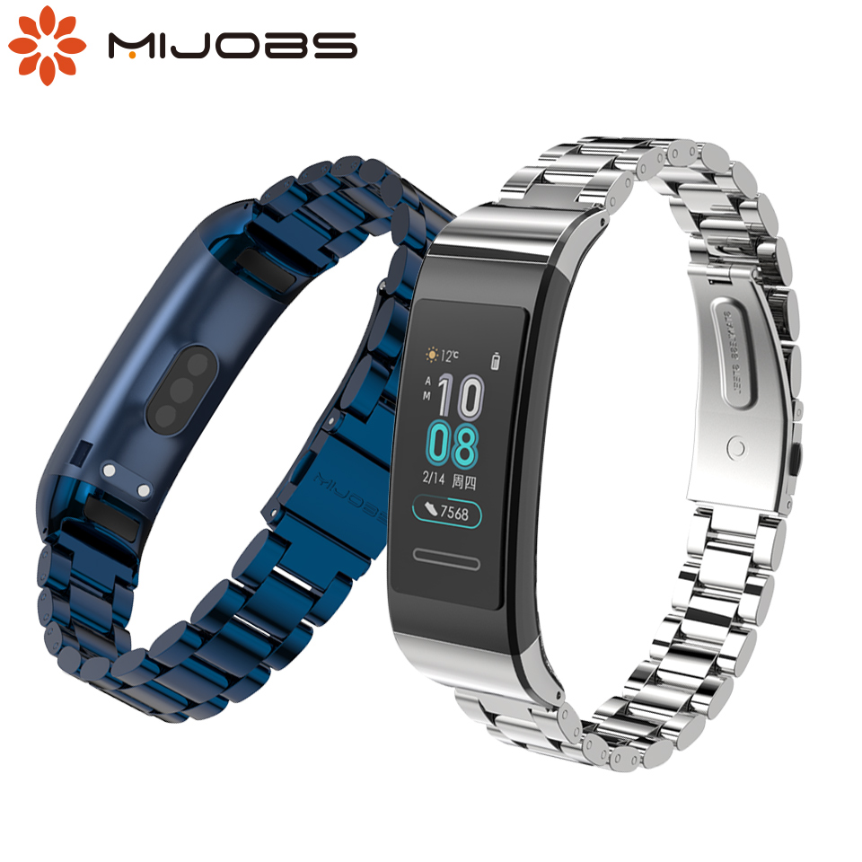 Bracelet For Huawei Band 3 Pro Metal Wrist Strap Stainless Steel Wristband For Huawei Band 3pro Smart Watch Replace Accessories