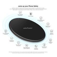 Cargador inalámbrico Ulefone UF002 cargador inalámbrico Qi de 10W de carga rápida para Huawei P30 Pro/Ulefone Armor 6 S/otros Smartphones