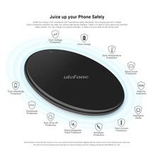 Ulefone uf002 carregador sem fio 10 w carregamento rápido qi carregador sem fio almofada para huawei p30 pro/ulefone armadura 6 s/outros smartphones