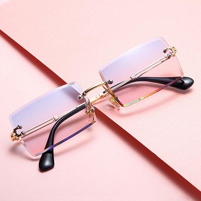 Gafas De Sol cuadradas De color rosa y morado para mujer, anteojos De Sol femeninos Retro De diseñador De marca, lentes rectangulares Vintage, pequeños 1