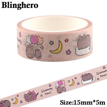 CA600 1.5cm x 5m Cute Cat Kawaii Washi Tape Set Japanese Paper Masking Tapes Stickers Decor Stationery Scrapbooking - discount item  61% OFF Stationery Sticker