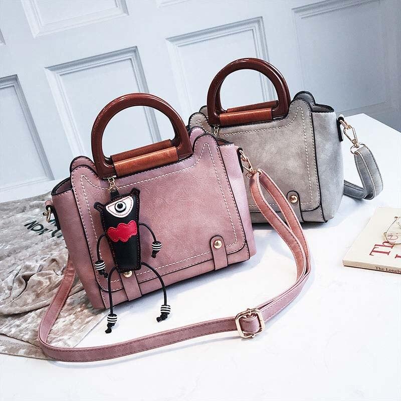 Sacs à main de luxe femmes sacs Designer mignon pendentif Vintage femme 2019 rétro filles sacs à bandoulière dames large sacs à bandoulière YY-07 - 2