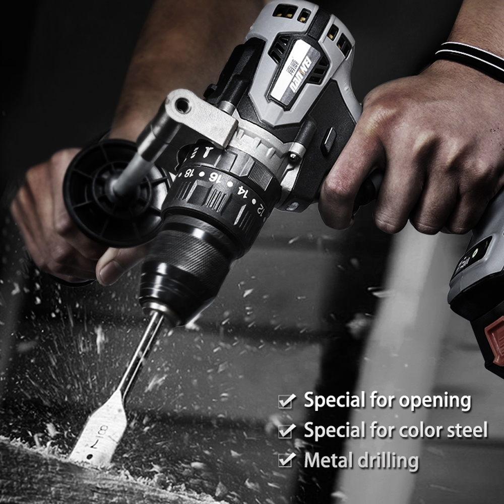 21V cordless hammer drill Industrial grade brushless impact drill 1 2inch Metal Auto-locking Chuck 2000AH Battery