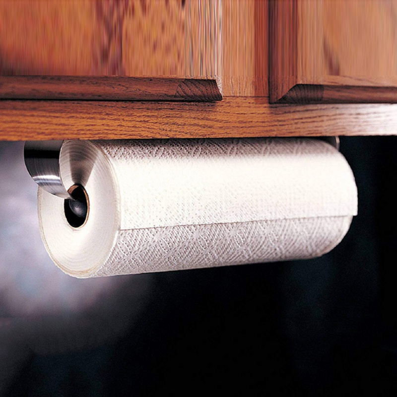 Stainless Steel Paper Towel Holder Household Kitchen Roll Paper Holder With OPP Bags Kitchen Paper Holders Storage Tools