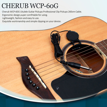Cherub WCP-60G Ukulele Guitar Pickups Professional Clip Pickups 260cm Cable Perfect Musical Instruments Accessories Hot Sales насос wester wcp 25 60g