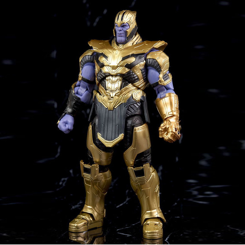 SHF Marvel Avengers 4 Endgame Thanos Figuarts Action Figure Infinity Gauntlet Toys Doll for Gift image