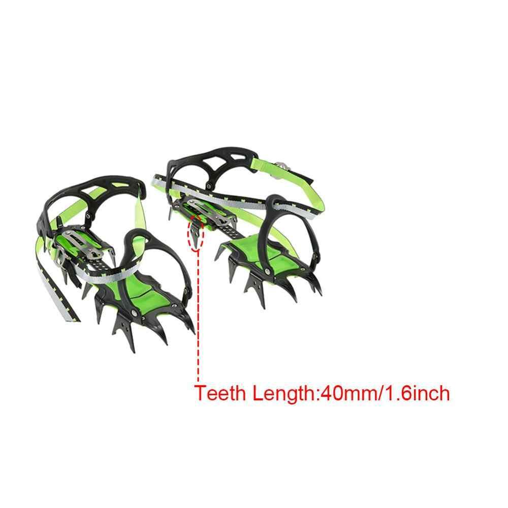 14 zębów raki profesjonalne ze wzorem ośnieżonych gór wspinaczka skałkowa antypoślizgowy pokrowiec na buty w pakiecie raki ze stali manganowej