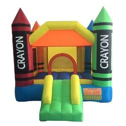 Крытый открытый надувной замок отказов дом игрушки для детей 3,7*2,7*2,3 м 420D толстая ткань Оксфорд