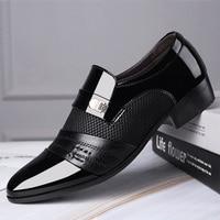 Mazefeng Fashion Slip On Men Dress Shoes Men Oxfords Fashion Business Dress Men Shoes 2020 New Classic Leather Men'S Suits Shoes 1