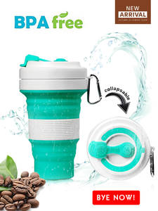 Silicone-Cup Water-Tea-Cup Coffee Folding Eco-Friendly Travel Collapsible Health Reusable