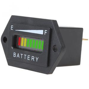 Indicador LED de batería medidor de estado de carga medidor de capacidad de batería automática probador 12/24V 36V 48V