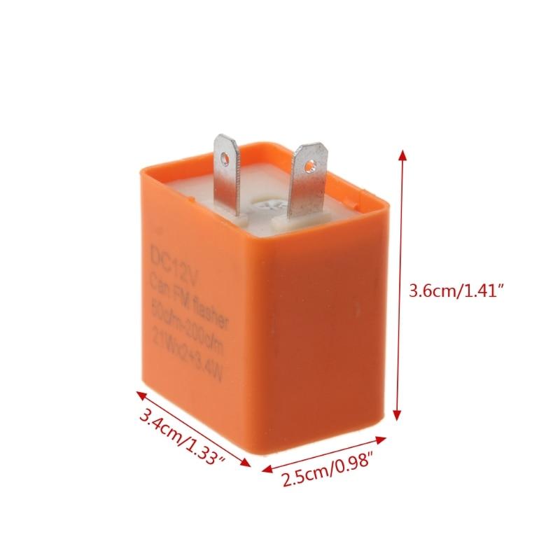 Купить с кэшбэком QILEJVS 12V 2 Pin Motorcycle Blinker Adjustable LED Flasher Relay Turn Signal Indicator #1