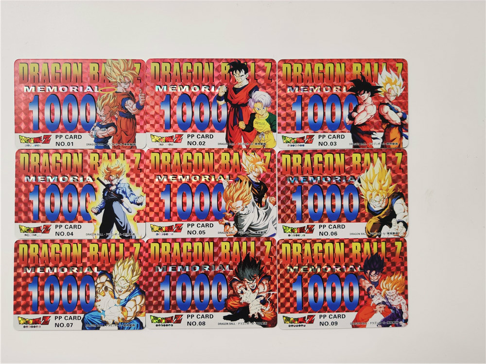 9pcs/set Super Saiyan Dragon Ball Z PP Heroes Battle Card Ultra Instinct Goku Vegeta Game Collection Cards