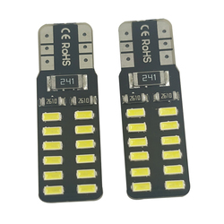 100pcs Car T10 LED 194 168 W5W 3014 SMD 24 LED Auto Clearance Light Parking lamps Side Light Bulb DC12V