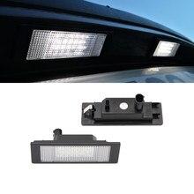 Sem erro branco led luzes da matrícula para bmw e81 e87 e87n mini r55 astra h gtc placa número de matrícula lâmpadas de luz traseira do carro