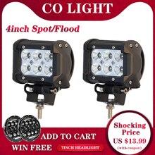 CO ışık 1 çift Led Drl 18W 4 nokta sel Led çalışma ışıkları 12V 24V için Offroad lada Niva Lada Uaz traktör kamyonları