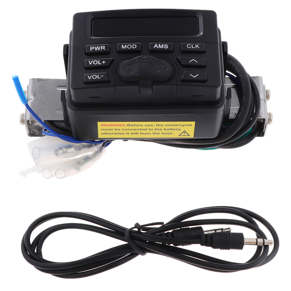 4in Waterproof Motorcycle Handlebar Bluetooth/MP3 FM Radio Sound System Motorcycle Electric Accessory