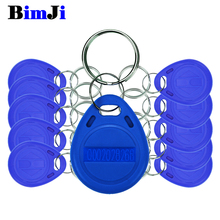 100pcs Rfid Tag 125Khz Proximity Blue Color RFID Card Keyfobs Key Fob Access Control Smart Card Free Shipping