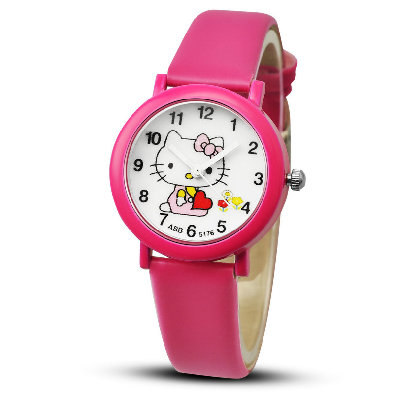 Watch 2020  Girls'  Children Watch  The Cat  Table  Candy Color  The Belt  Wrist Watch  Fashion    Electronic  Kids Watches