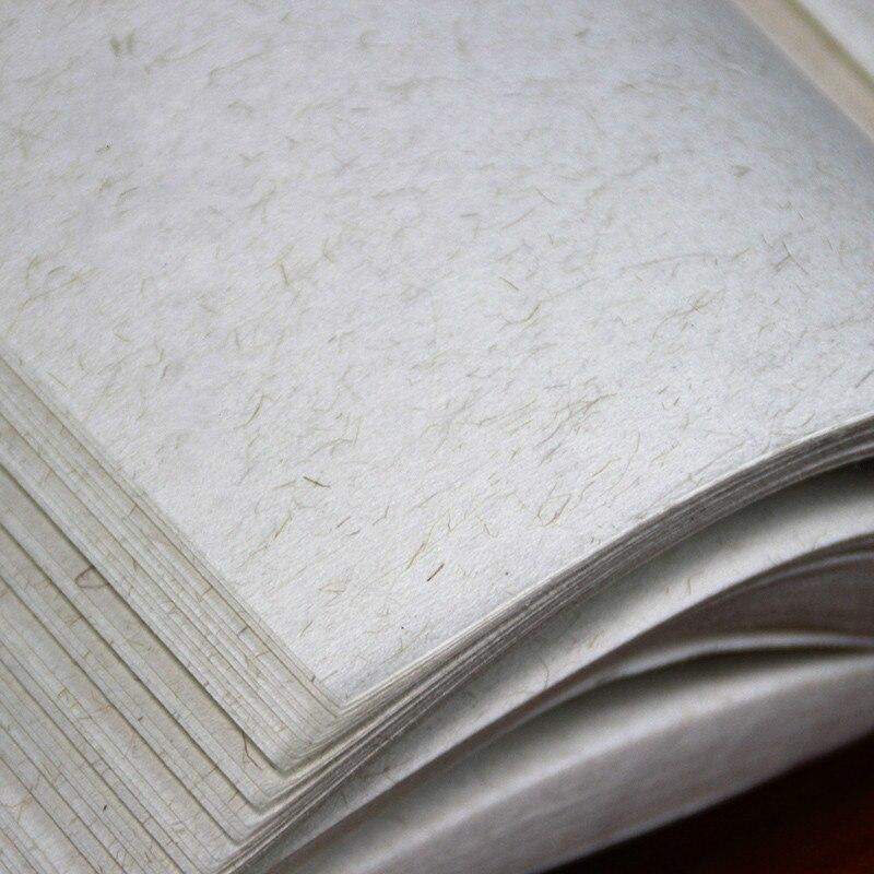Calligraphy Xuan Paper Papel Arroz 100sheets Chinese Hemp Rice Paper Raw Short Fiber Xuan Paper Chinese Painting Rijstpapier