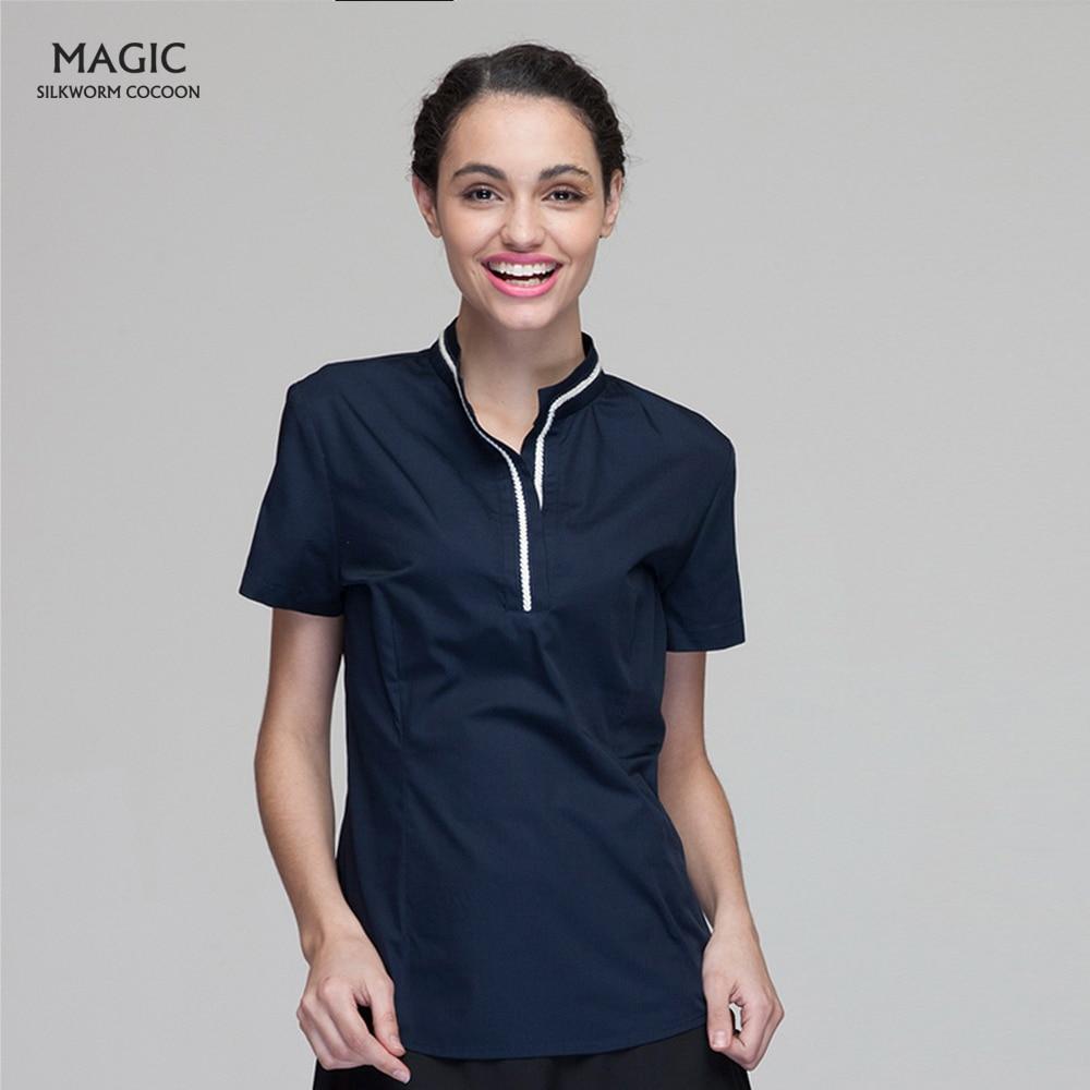 Unisex For Chef Restaurant Uniform Short Sleeve Hotel Chef Uniform Long Sleeve Barbershop Cafe Sushi Waiter Workwear Clothing