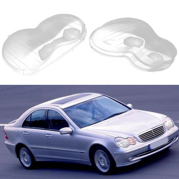 For Benz W203 C200K C230 C280 C300 2000-2004 Car Headlight Lens Lampshade Car Head Lamps Cover Glass Shell image