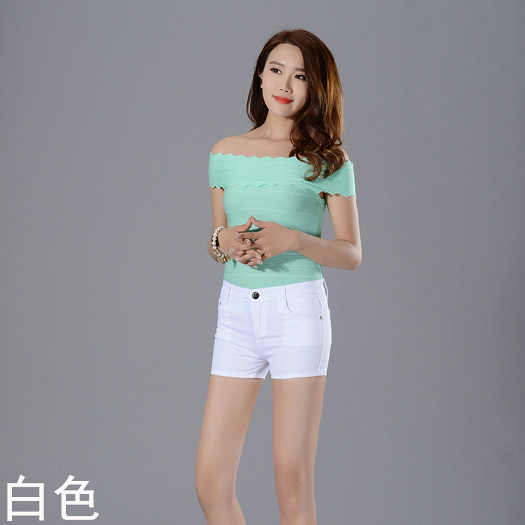 2019 New Fashion Casual Shorts Elastic Belt Exquisitely Affordable