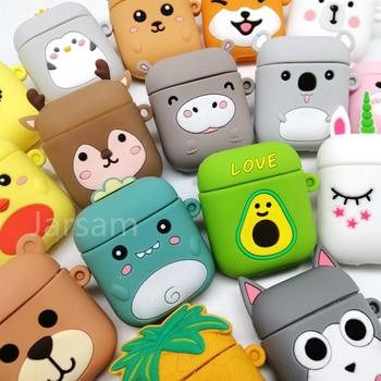 Cartoon Cute Earphone Case For AirPod 2 1 case Silicone Charging Headphones Case for airpods case Protective soft Cover new year