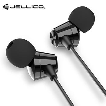 Jellico X4A Bass Sound słuchawki douszne sportowe słuchawki z mikrofonem dla iPhone Samsung Xiaomi słuchawki fone de ouvido auriculares MP3 tanie i dobre opinie 3 5mm Ucho Przewodowy Dynamiczny Brak X4A Hi-Fi Audio In-Ear Music Earphone 32Ω 20-20000Hz Do Internetu Bar Monitor Słuchawkowe