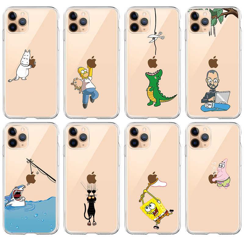 מצחיק Cartoon טלפון מקרה עבור iPhone 11 פרו 11Pro מקסימום מקרה מודפס קריקטורה חתול רך סיליקון TPU כיסוי מעטפת עבור iPhone11 פרו מקסימום