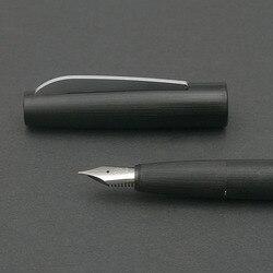 Caneta preta da fonte da borda de kaco com caixa de presente do cartucho de tinta 0.38mm ef nib canetas plásticas para escrever material de escritório da escola