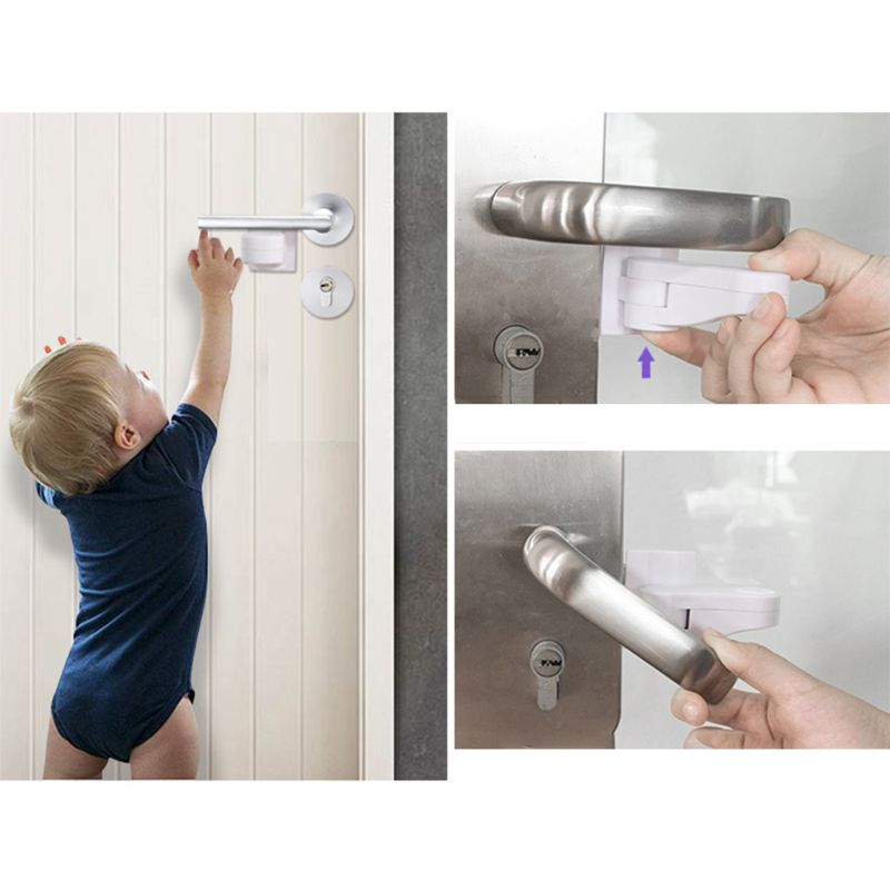 Door Lever Lock For Home Universal Professional Children Kids Safety Doors Handle Locks Baby Anti-open Protection Device