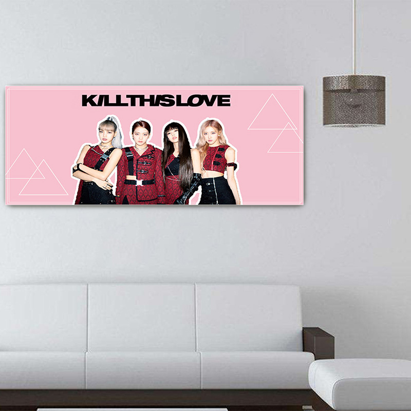 1 Pc Kawaii Blackpink Concert Support Hand Banner Fabric Hang Up Poster Stationery Set For Fans Gift