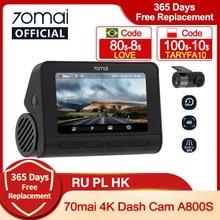 70mai Dash Cam 4K A800S Dual Anblick 70mai A800S GPS ADAS Vorne und Hinten Auto DVR 2160P 4K 24H Parkplatz 140FOV