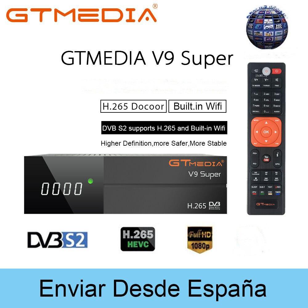 1080P Volle HD GT media V9 Super Satellite TV Empfänger H.265 WIFI Gleiche DVB-S2 GTmedia V8 NOVA Rezeptor