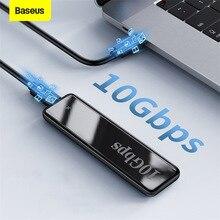 Baseus NVME M2 SSD Case SATA To USB Type C 3.1 SSD Disk Case 10Gbps M.2 NVME NGFF SATA M/B Key External Hard Drive Enclosure Box