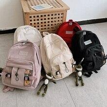 Letter Print Women Backpack Solid Women Shoulder Bag Fashion School Bag for Teenage Girls Children Backpacks Travel Bag Mochilas