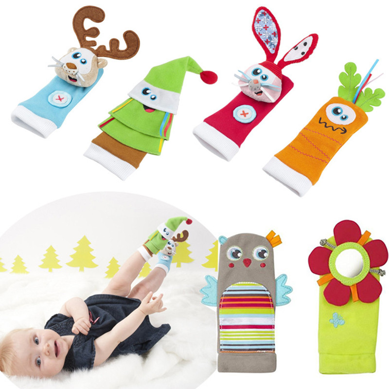 New Arrival 0~24 Months Baby Infant Soft Rattle Socks Newborn Educational Gift Toy Children Toy Baby Foot Socks