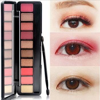 1PC 10 kolorów Nude Shining paleta cieni do powiek Glamorous wodoodporna nie kwitną cień do powiek Shimmer Glitter Makeup tanie i dobre opinie