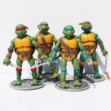 4pcs/set Cartoon Ninja Figure Turtle Classic Action Figures Collection Decoration Kids Toys Gift