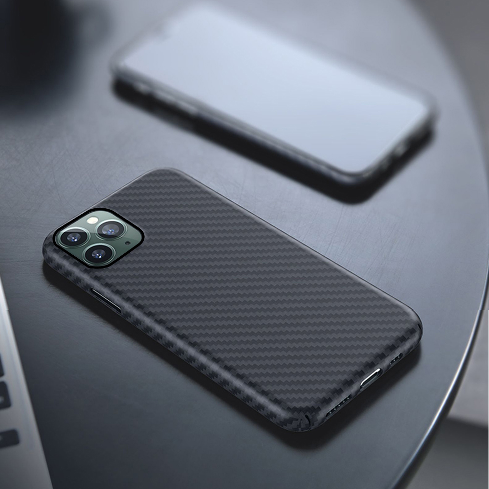 Image 2 - 0.7mm Ultra Thin Luxury Carbon Fiber Pattern For iPhone 11 Pro  Max Case Cover Aramid Fiber Case For iPhone 11Pro XS Max XR XFitted  Cases
