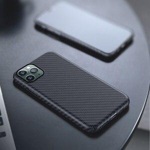 Image 2 - 0.7mm Ultra mince modèle de Fiber de carbone de luxe pour iPhone 11 Pro Max housse de protection en Fiber daramide étui pour iPhone 11Pro XS Max XR X