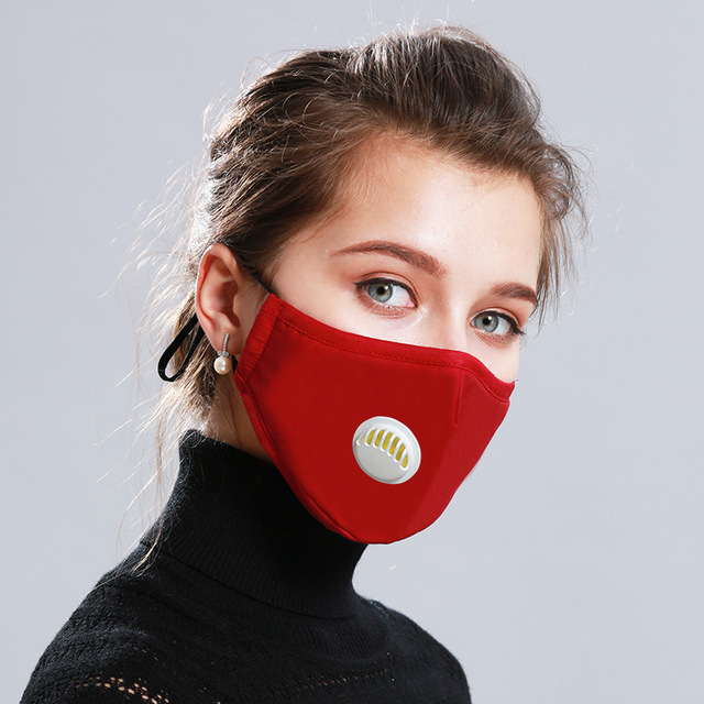 Adult Anti Flu Windproof Mouth Mask 3D Fashion Black Color Reusable Earloop Washable Dust Soft Breathable Face Mask 2