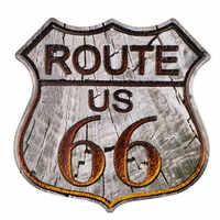 Ruta 66 Mother Road madera Highway Shield venta al por mayor señal de Metal