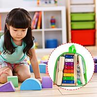 12PCS/SET Natural Wooden Kids Music Instruments Kit Toys Set Children Toddlers Early Education Percussion Doll Toy